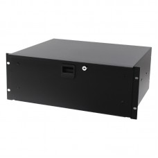 "4U Aluminium Rack Drawer Black 387mm / 15.25"" Deep"